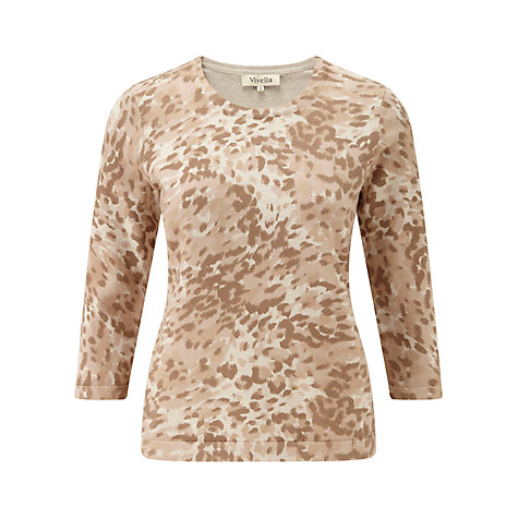 Buy Viyella Leopard Print Jumper, Camel Online at johnlewis.com