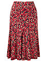 Viyella Petite Animal Skirt, Cranberry