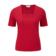 Buy Viyella Petite Chiffon Trim Top, Cranberry Online at johnlewis.com