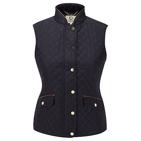 Buy Viyella Quilted Gilet, Navy Online at johnlewis.com