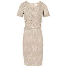 Buy Reiss Lace Cross Front Dress, Champagne Online at johnlewis.com