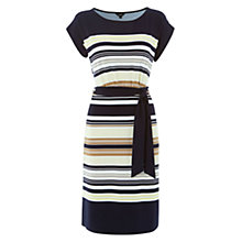 Buy Hobbs Katie Dress, Navy Multi Online at johnlewis.com