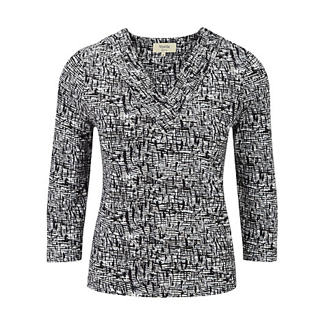 Buy Viyella Petite Crosshatch Jersey Top, Navy Online at johnlewis.com
