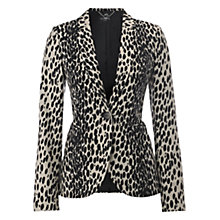 Buy Hobbs Savannah Jacket, Black/Natural Online at johnlewis.com