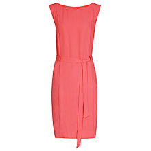 Buy Reiss Belted Shift Dress, Pink Online at johnlewis.com