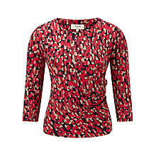Buy Viyella Animal Print Jersey, Cranberry Online at johnlewis.com