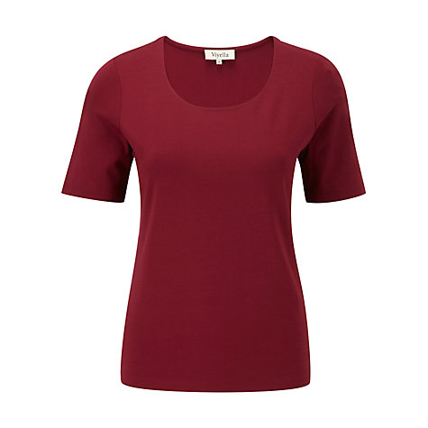 Buy Viyella Layering Top, Berry Online at johnlewis.com