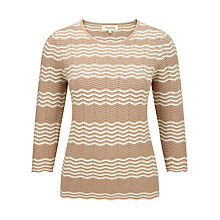 Buy Viyella Chevron Stitch Jumper, Camel Online at johnlewis.com