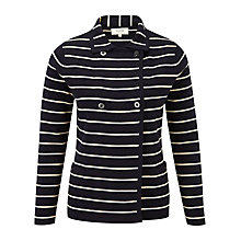 Buy Viyella Petite Striped Cardigan, Navy Online at johnlewis.com