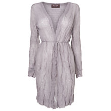 Buy Phase Eight Made in Italy Caroline Crinkle Cardigan, Silver Online at johnlewis.com