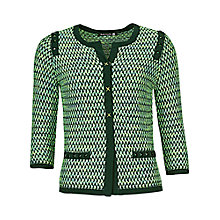 Buy Betty Barclay Tweed Effect Cardigan, Dark Green / Emerald Online at johnlewis.com