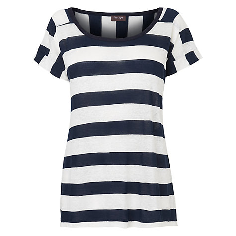Buy Phase Eight Nellie T-Shirt, Navy / Ivory Online at johnlewis.com