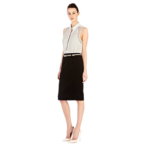 Buy Warehouse Pencil Skirt, Black Online at johnlewis.com
