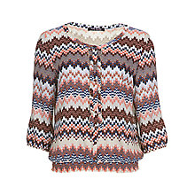 Buy Betty Barclay Chiffon Blouse, Dark Red / Pink Online at johnlewis.com