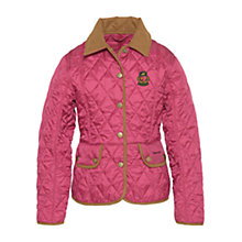Buy Barbour Girls' Dressage Quilted Jacket, Juniper Online at johnlewis.com