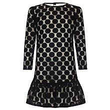 Buy Somerset by Alice Temperley Girls' Lace Frill Hem Dress, Black Online at johnlewis.com