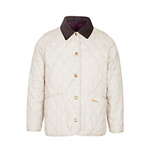 Buy Barbour Girls' Shaped Liddlesdale Jacket, Pearl Online at johnlewis.com