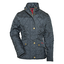 Buy Barbour Girls' Cavalry Quilted Jacket, Navy Online at johnlewis.com