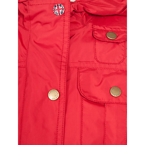 Buy Barbour Girls' Outdoor Winter Force Parka, Chilli Red Online at johnlewis.com