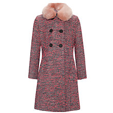 Buy Somerset by Alice Temperley Girls' Bright Tweed Coat, Neon Online at johnlewis.com