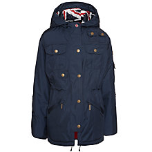 Buy Barbour Girls' Outdoor Winter Force Parka, Navy Online at johnlewis.com