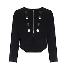 Buy Somerset by Alice Temperley Girls' Military Jacket, Black Online at johnlewis.com