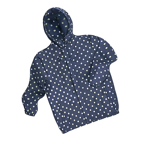 Buy Cath Kidston Spot Rain Mac, Navy/White Online at johnlewis.com