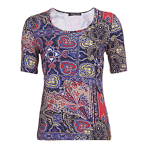 Buy Betty Barclay Abstract T-Shirt, Red / Navy Online at johnlewis.com