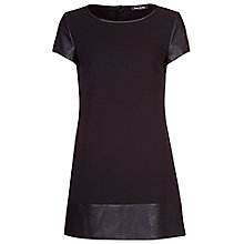 Buy Betty Barclay Jersey Pleather Tunic, Black Online at johnlewis.com