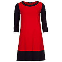 Buy Betty Barclay Contrast Jersey Dress, Dark Red / Blue Online at johnlewis.com
