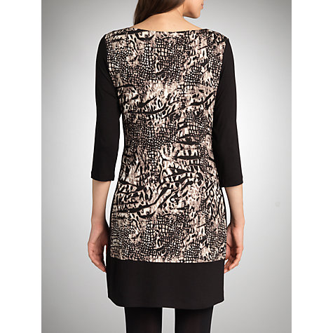 Buy Betty Barclay Animal Print Dress, Black Online at johnlewis.com