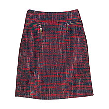 Buy Betty Barclay Tweed Zip Skirt, Red / Navy Online at johnlewis.com