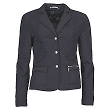 Buy Betty Barclay Rever Neck Quilt Jacket, Dark Navy Online at johnlewis.com