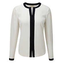 Buy Viyella Contrast Trim Blouse, Ivory Online at johnlewis.com
