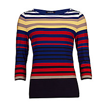 Buy Betty Barclay Stripe T-Shirt, Red/Multi Online at johnlewis.com