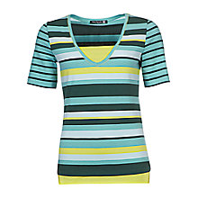 Buy Betty Barclay Stripe T-Shirt, Emerald / Dark Green Online at johnlewis.com