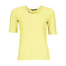 Buy Betty Barclay Round Neck Short Sleeve T-Shirt, Lime Punch Online at johnlewis.com