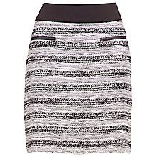 Buy Betty Barclay Tweed Jersey Skirt, Black / Cream Online at johnlewis.com