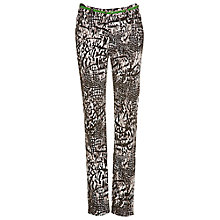 Buy Betty Barclay Belted Animal Print Trousers, Beige / Black Online at johnlewis.com