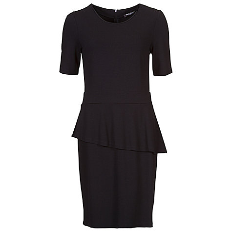Buy Betty Barclay Jersey Peplum Dress, Black Online at johnlewis.com