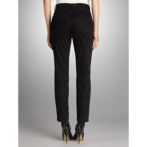 Buy Betty Barclay Flock Effect Ankle Trousers, Black Online at johnlewis.com