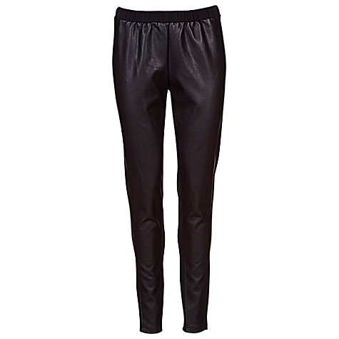 Buy Betty Barclay Faux Leather Pull On Trousers, Black Online at johnlewis.com