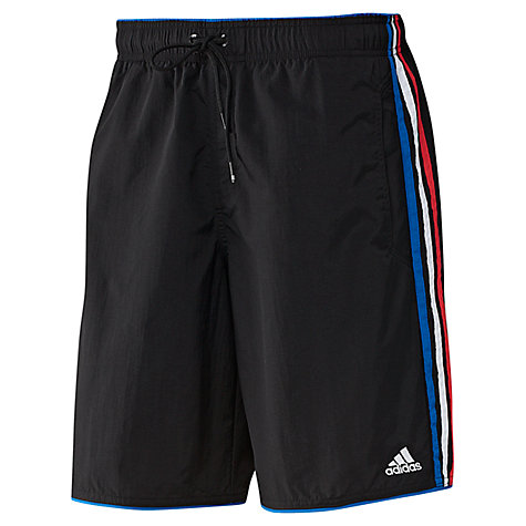 Buy Adidas 3-Stripes Classic Length Swim Shorts Online at johnlewis.com