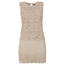 Buy Mint Velvet Lace Top Dress, Stone Online at johnlewis.com