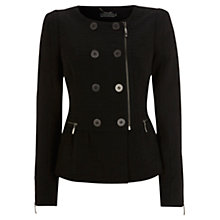 Buy Mint Velvet Jacquard Jacket, Black Online at johnlewis.com