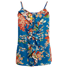 Buy Oasis Amori Garden Cami, Blue Online at johnlewis.com