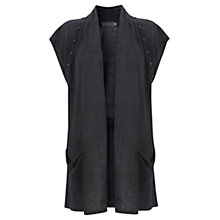 Buy Mint Velvet Button Detail Waistcoat, Blue Online at johnlewis.com