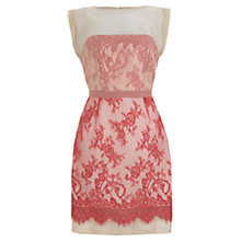 Buy Mint Velvet Lace Organza Dress, Pink Online at johnlewis.com
