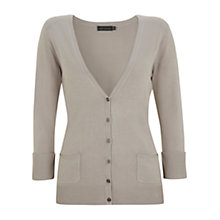 Buy Mint Vevet Marl Cardigan, Stone Online at johnlewis.com