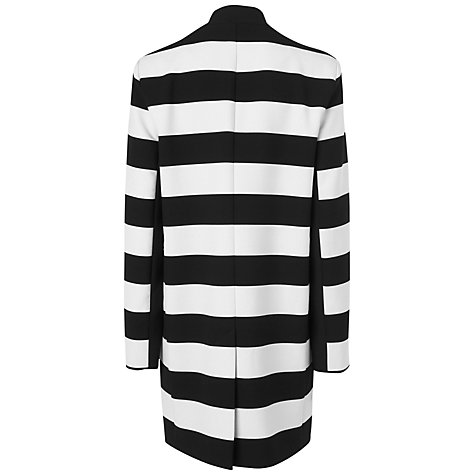 Buy Jaeger Wide Striped Summer Coat, Black Online at johnlewis.com